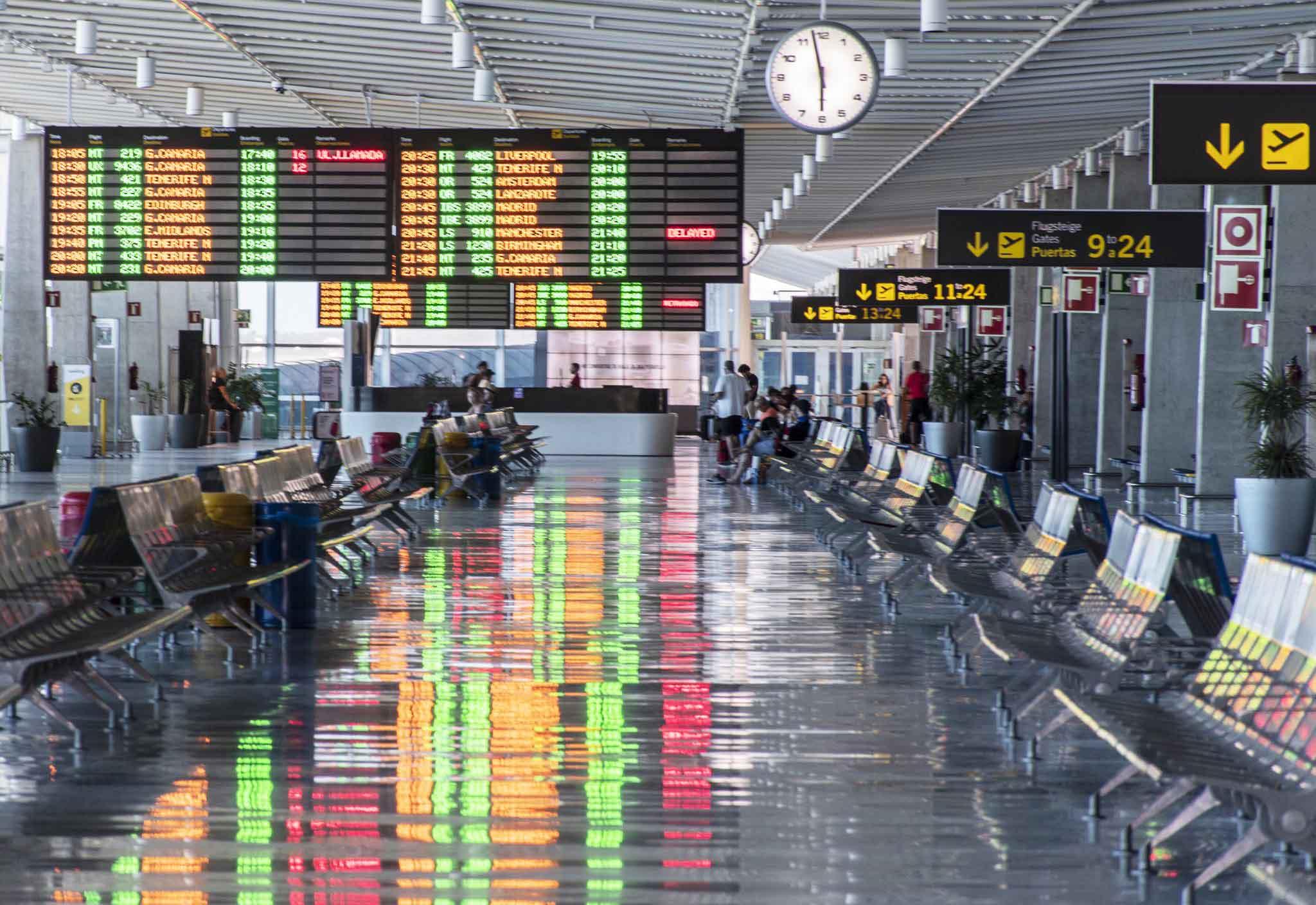 El aeropuerto de Fuerteventura pierde el pasado mes más de 60.000 pasajeros con respecto a Octubre del 18