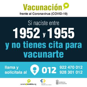 Vacunación Gobierno Canarias